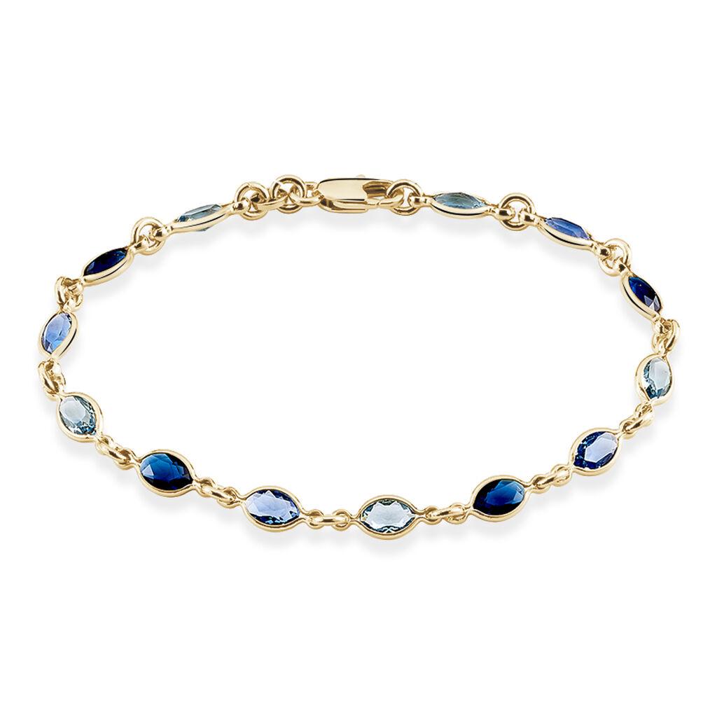 Bracelet Ilvaae Plaque Or Jaune Pierre De Synthese - Bracelets fantaisie Femme | Histoire d'Or