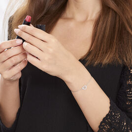 Bracelet Delicata Argent Blanc Oxyde De Zirconium - Bracelets Coeur Femme   Histoire d'Or