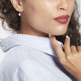 Boucles D'oreilles Pendantes Bleunienn Argent Rhodié Oxyde - Boucles d'Oreilles Coeur Femme | Histoire d'Or