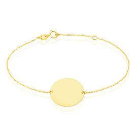 Bracelet Pastille Gravable Or Jaune - Bijoux Femme | Histoire d'Or