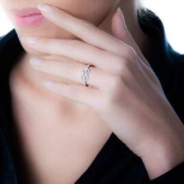 Bague Or Blanc Diamant - Bagues avec pierre Femme   Histoire d'Or