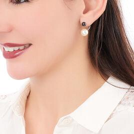 Boucles D'oreilles Pendantes Alyson Argent Blanc Céramique - Boucles d'oreilles fantaisie Femme | Histoire d'Or