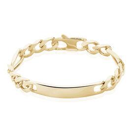 Bracelet Theophene Plaque Or Identite Alternee 1/3 - Gourmettes Homme | Histoire d'Or
