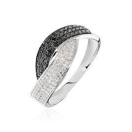Bague Oia Or Blanc Diamant - Bagues avec pierre Femme | Histoire d'Or