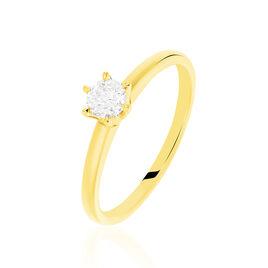 Bague Solitaire Niva Or Jaune Diamant - Bagues solitaires Femme | Histoire d'Or