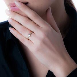 Bague Dana Or Jaune Oxyde De Zirconium - Bagues solitaires Femme | Histoire d'Or