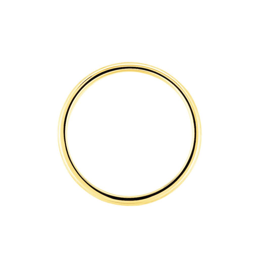 Alliance Effet Epi Mat Ruban Plat Or Bicolore - Alliances Unisexe | Histoire d'Or