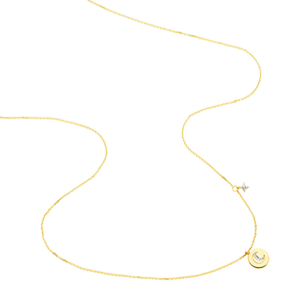 Collier Yamna Or Jaune Oxyde De Zirconium - Colliers Lune Femme | Histoire d'Or