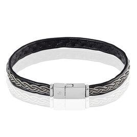 Bracelet Alaoua Acier Blanc - Bracelets cordon Homme   Histoire d'Or
