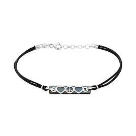 Bracelet Apollonia Or Blanc Nacre - Bracelets cordon Femme   Histoire d'Or