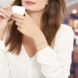 Bracelet Cefora Argent Blanc - Bracelets fantaisie Femme | Histoire d'Or