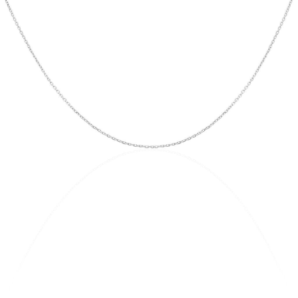 Chaîne Claudine Maille Forçat Argent Blanc - Chaines Femme | Histoire d'Or