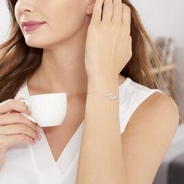 Bracelet Eponine Argent Blanc Oxyde De Zirconium - Bracelets fantaisie Femme   Histoire d'Or
