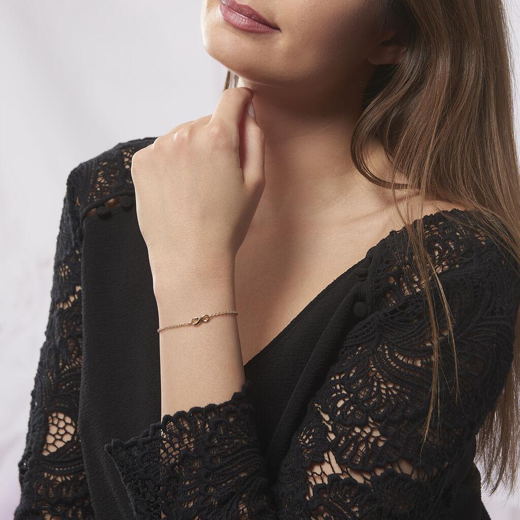 Bracelet Plaque Or Ajna Forme Infini - Bracelets Infini Femme | Histoire d'Or