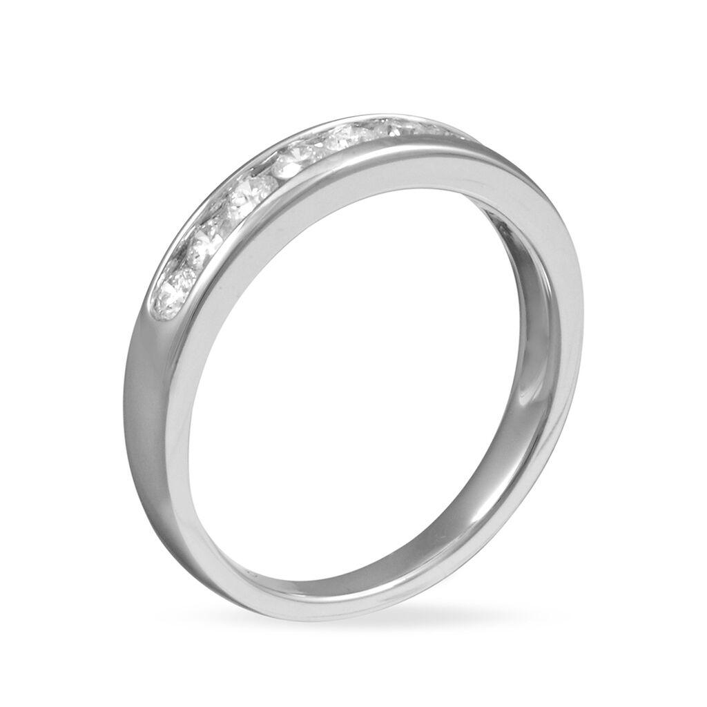 Alliance Giulia Platine Blanc Diamant - Alliances Femme | Histoire d'Or