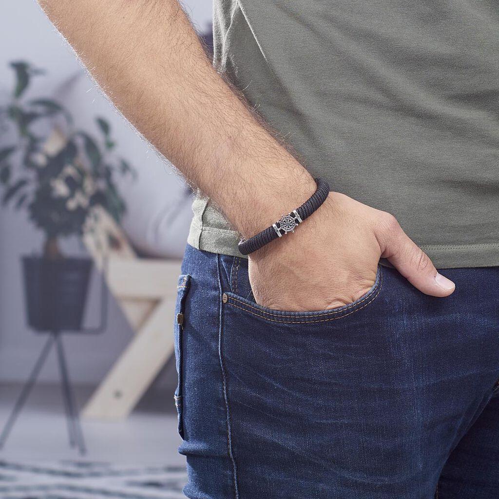 Bracelet Same Acier Blanc - Bracelets cordon Homme   Histoire d'Or