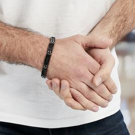 Bracelet Acier Blanc - Bracelets fantaisie Homme | Histoire d'Or