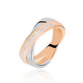 Bague Andrette Or Bicolore Diamant - Bagues avec pierre Femme | Histoire d'Or