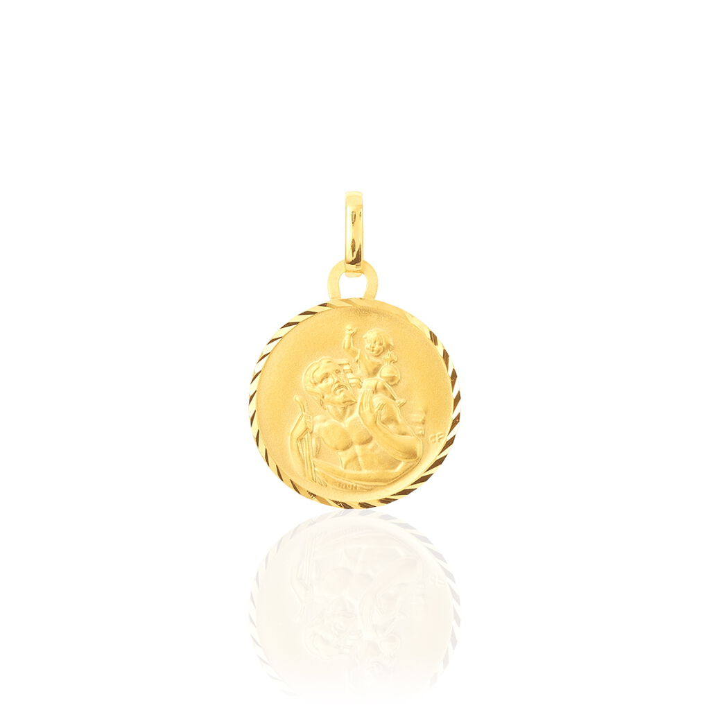 Pendentif Saint Christophe Diamante Or Jaune - Pendentifs Unisexe   Histoire d'Or