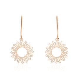 Boucles D'oreilles Pendantes Ombelline Argent Rose - Boucles d'oreilles fantaisie Femme   Histoire d'Or