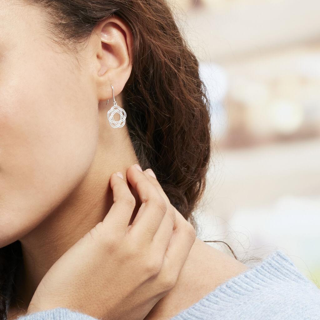 Boucles D'oreilles Pendantes Constellation Argent Blanc - Boucles d'oreilles fantaisie Femme | Histoire d'Or