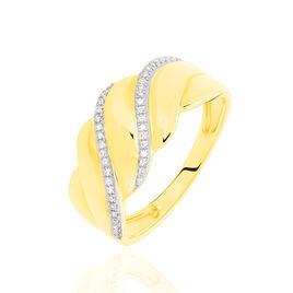 Bague Elyanne Or Jaune Diamant - Bagues avec pierre Femme   Histoire d'Or