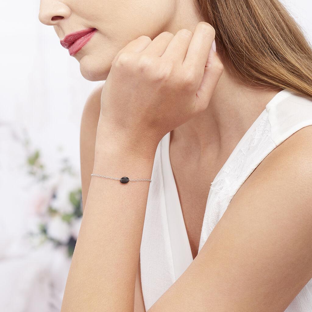 Bracelet Evren Argent Blanc Pierre De Synthese - Bracelets fantaisie Femme | Histoire d'Or
