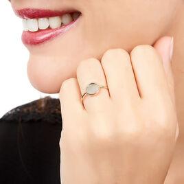 Bague Joana Or Rose Nacre - Bagues avec pierre Femme   Histoire d'Or