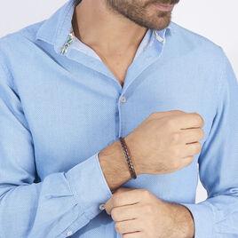Bracelet Edouard Acier Blanc - Bracelets fantaisie Homme   Histoire d'Or