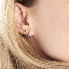 Boucles D'oreilles Puces Sakura Argent Blanc - Boucles d'oreilles fantaisie Femme   Histoire d'Or