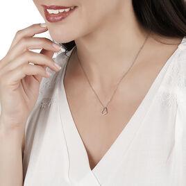 Collier Salona Argent Blanc Oxyde De Zirconium - Colliers Coeur Femme | Histoire d'Or
