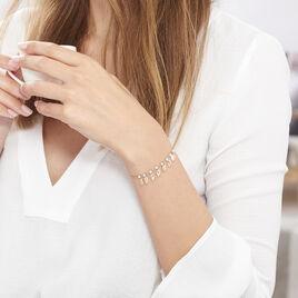 Bracelet Maxine Argent Rose Pierre De Synthese - Bracelets Plume Femme | Histoire d'Or