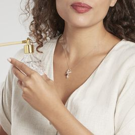 Pendentif Abellia Argent Blanc Ambre - Pendentifs Femme | Histoire d'Or