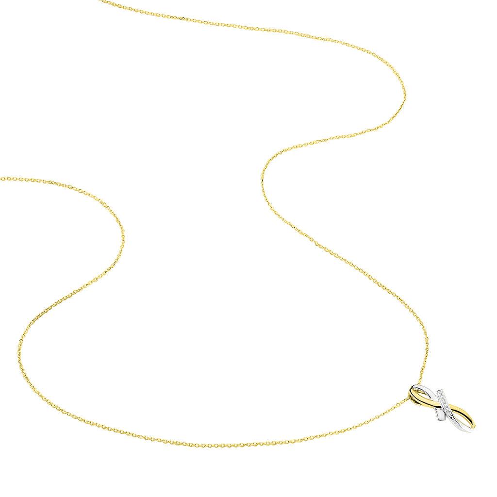 Collier Soukayna Or Bicolore Diamant - Bijoux Femme | Histoire d'Or