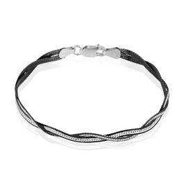Bracelet Anaiz Maille Tresse Argent Blanc - Bracelets chaîne Femme   Histoire d'Or