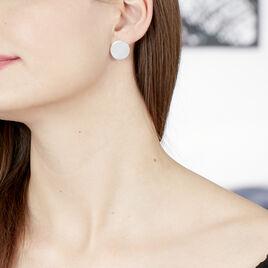 Boucles D'oreilles Puces Aselya Argent Blanc - Boucles d'oreilles fantaisie Femme | Histoire d'Or