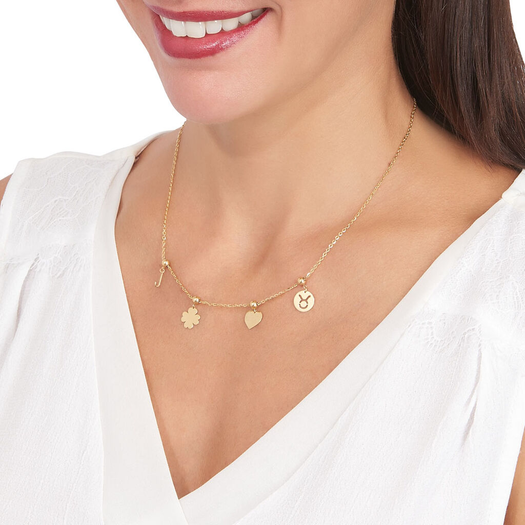 Charms Kaythleen Or Jaune - Pendentifs Coeur Femme   Histoire d'Or