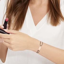Bracelet Ovale Gravable Or Rose - Bracelets cordon Femme | Histoire d'Or