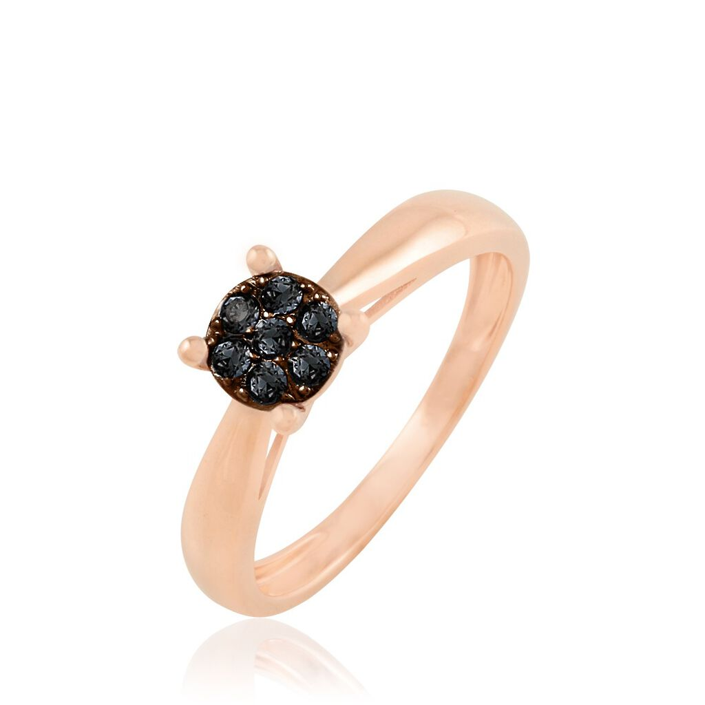 Bague Solitaire Collection Grace Or Rose Diamant