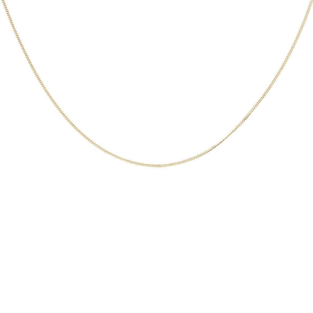 Chaîne Carla Maille Gourmette Plaque Or Jaune - Chaines Femme | Histoire d'Or