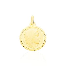 Pendentif Vierge Rond Strie Or Jaune - Bijoux Vierge Famille | Histoire d'Or