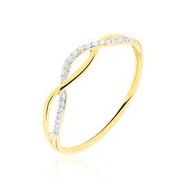 Bague Nucia Or Jaune Diamant - Bagues avec pierre Femme | Histoire d'Or