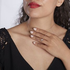 Collier Argent Rhodie Gurvana Oxydes De Zirconium - Colliers fantaisie Femme   Histoire d'Or