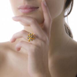 Bague Rashel Laiton Bicolore - Bagues fantaisie Femme | Histoire d'Or