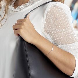 Bracelet Bartoumieu Argent Blanc Oxyde De Zirconium - Bracelets fantaisie Femme   Histoire d'Or