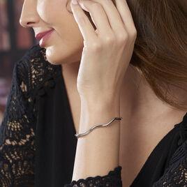 Bracelet Jonc Jennie Ondule Or Blanc - Bracelets joncs Femme   Histoire d'Or