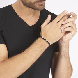 Bracelet Thibaut Acier Tricolore Oxyde De Zirconium - Bracelets fantaisie Homme   Histoire d'Or
