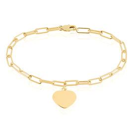 Bracelet Plaque Or Neala Maille Cheval Pampille - Bracelets Coeur Femme | Histoire d'Or