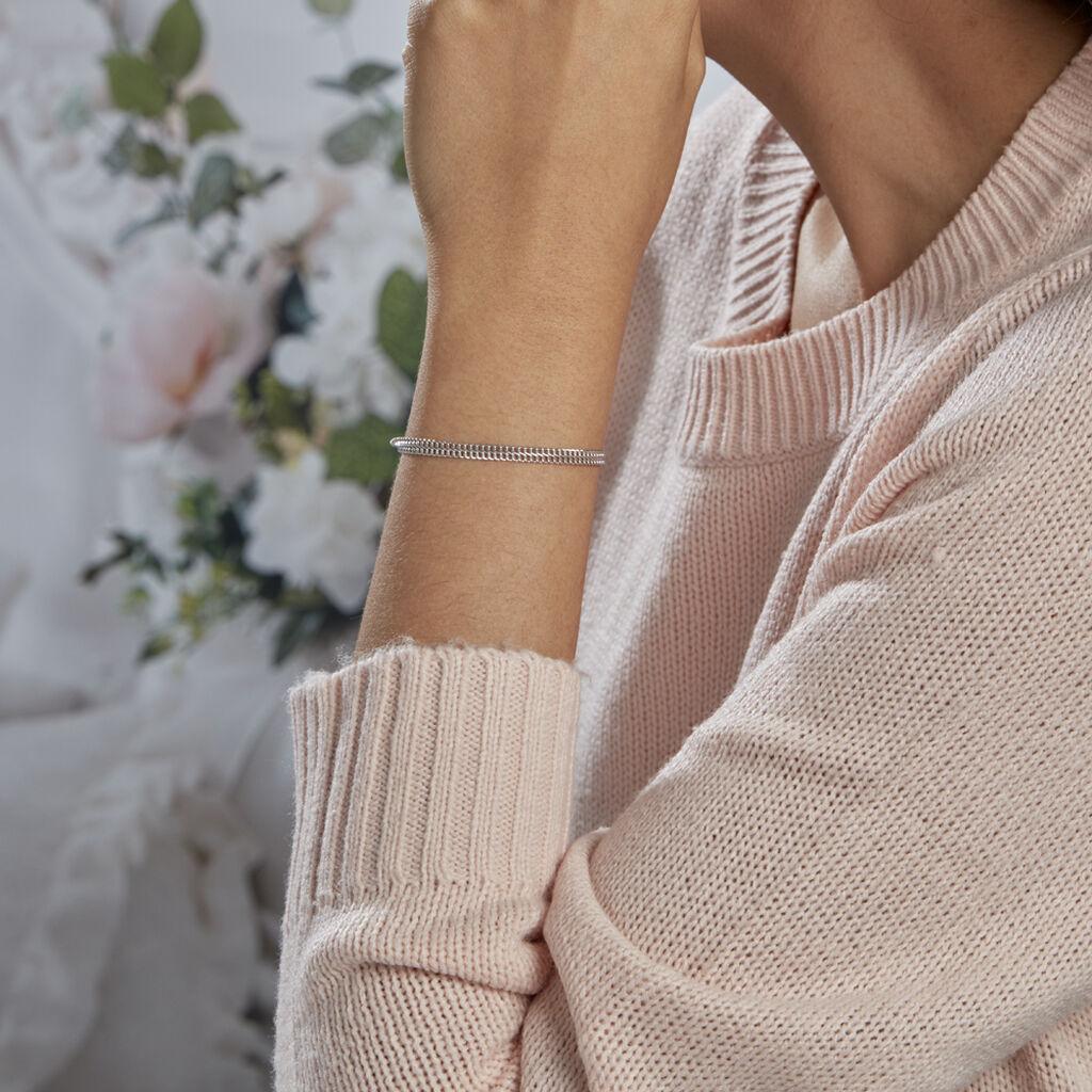 Bracelet Anne-sylvieae Maille Russe Argent Blanc - Bracelets chaîne Femme | Histoire d'Or