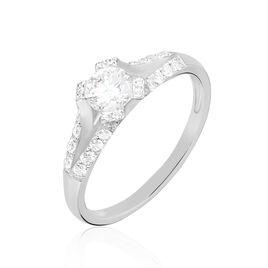 Bague Solitaire Ingrid Or Blanc Diamant - Bagues avec pierre Femme | Histoire d'Or